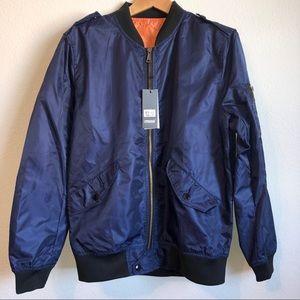 Other - Navy Blue Windbreaker Members Only Style Jacket